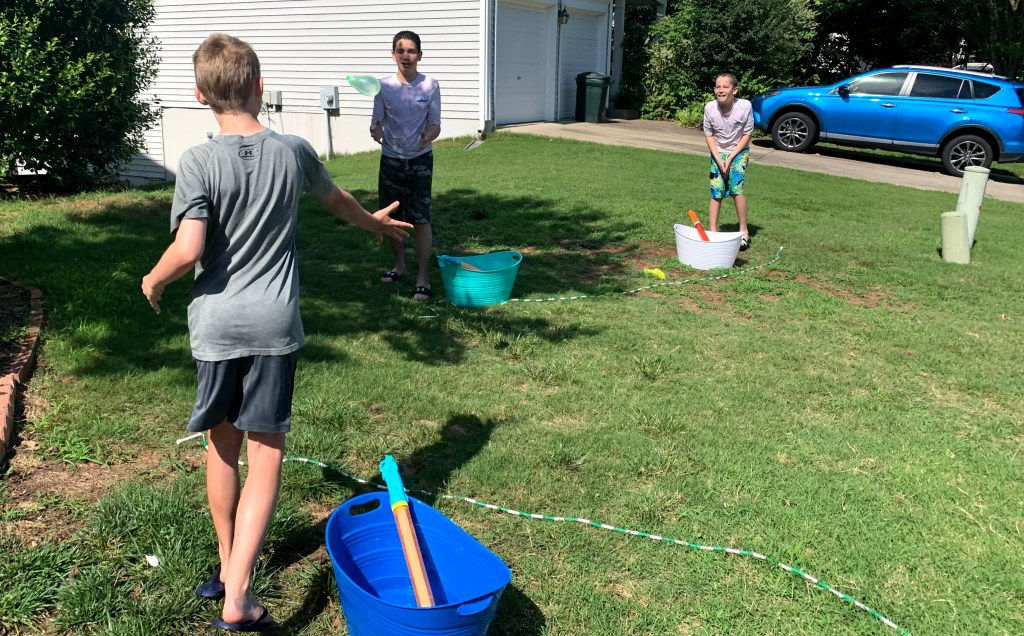 Hot potato is a great water game when you need to keep a safe distance.