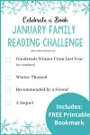 January Family Reading Challenge printable and bookmarks
