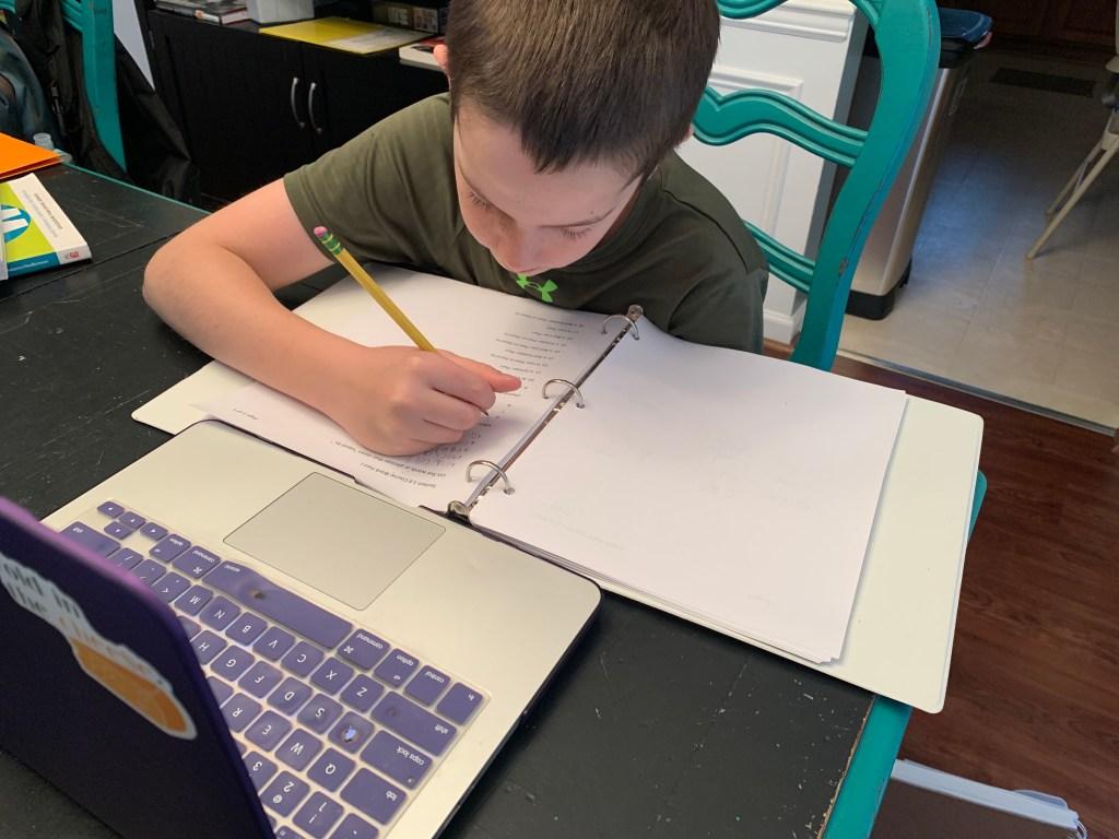 My son is using Mr. D math for his homeschool pre-algebra.