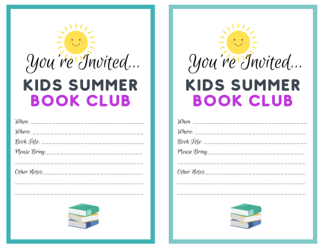 Print these summer book club invites