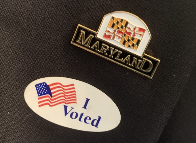 2020 pin Governor LARRY HOGAN pinback President Campaign button MARYLAND
