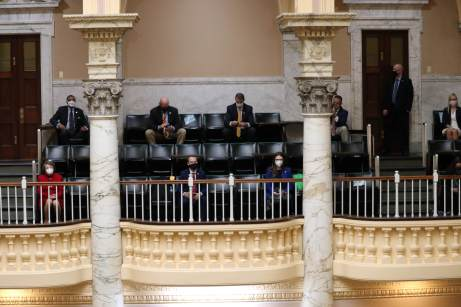 Some members of the House of Delegates will attend floor sessions this year in the upper balconies typically reserved for the general public. Photo by Danielle E. Gaines.