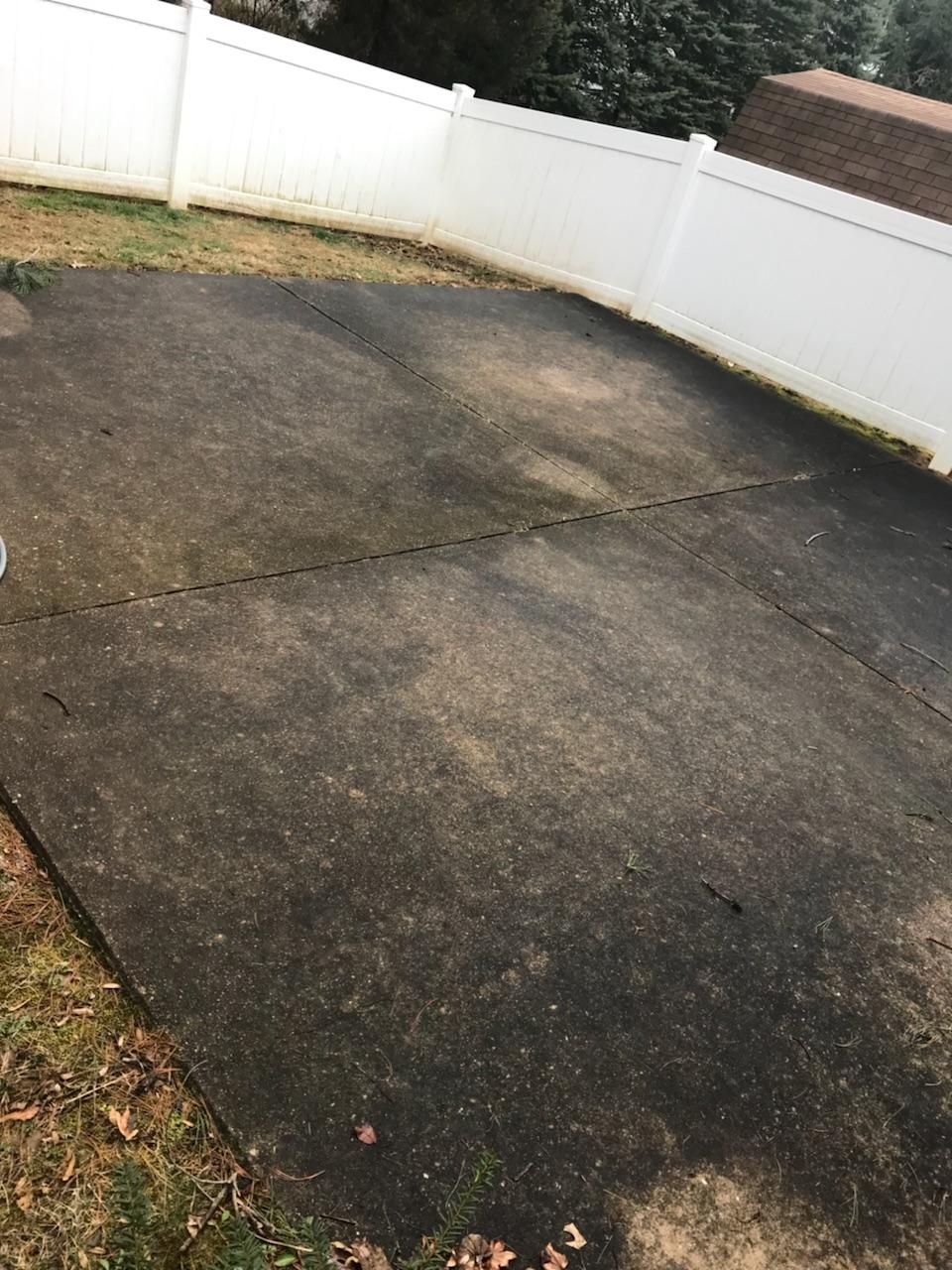 patio pressure washing cleaning