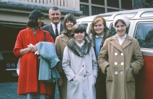 Lawlor family in New Vernon, NJ, just before sailing to Germany, February 1965 (L-R Frannie, Jack, Lizzie, Sarah, Nancy, Mary