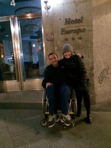 Cold winter night in Madrid with my friend & former student John Bennett