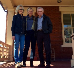 On the porch in Allentown with Jacqueline and Ian Cockburn of Art and Culture Andalucia