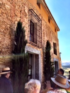 Visit to Bodega Descalzos Viejos, Ronda, Spain, with Andaulcia Art & Culture group, July 10, 2014