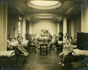 Ward C1, 1st Northern General Hospital during the First World War was housed in what is now the Hatton Gallery