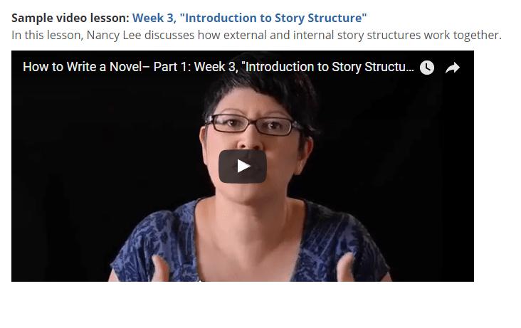 Online Classes in Novel Writing