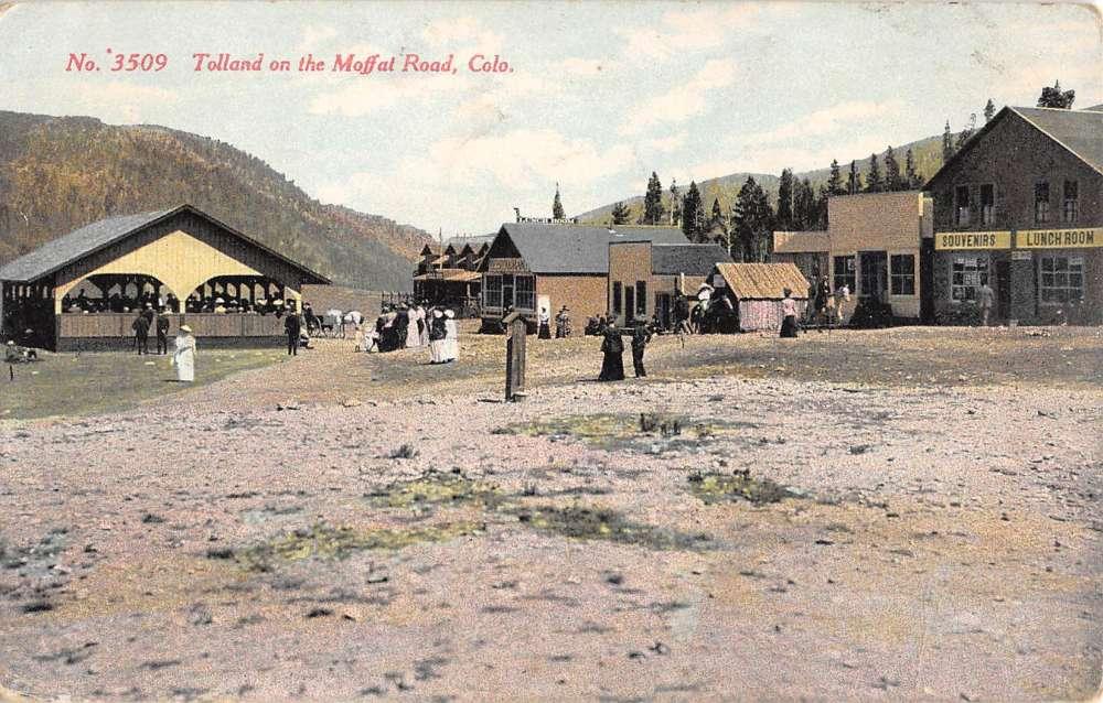 Tolland Colorado Moffat Road Street View Antique Postcard