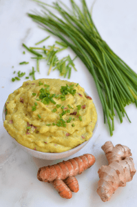 Ginger Turmeric Mashed Potato Recipe