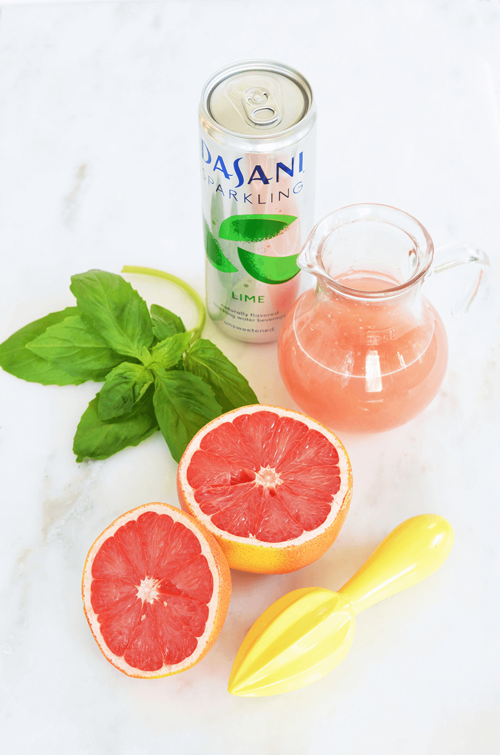 Sparkling Grapefruit Basil Paloma - Plus three more recipe for Sparkling Mocktails and Cocktails