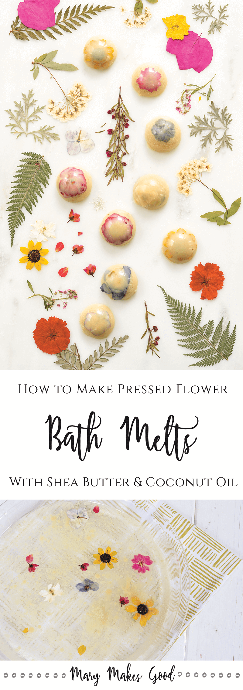 Pressed Flower Bath Melts - An Easy Recipe for Handmade Bath Treats