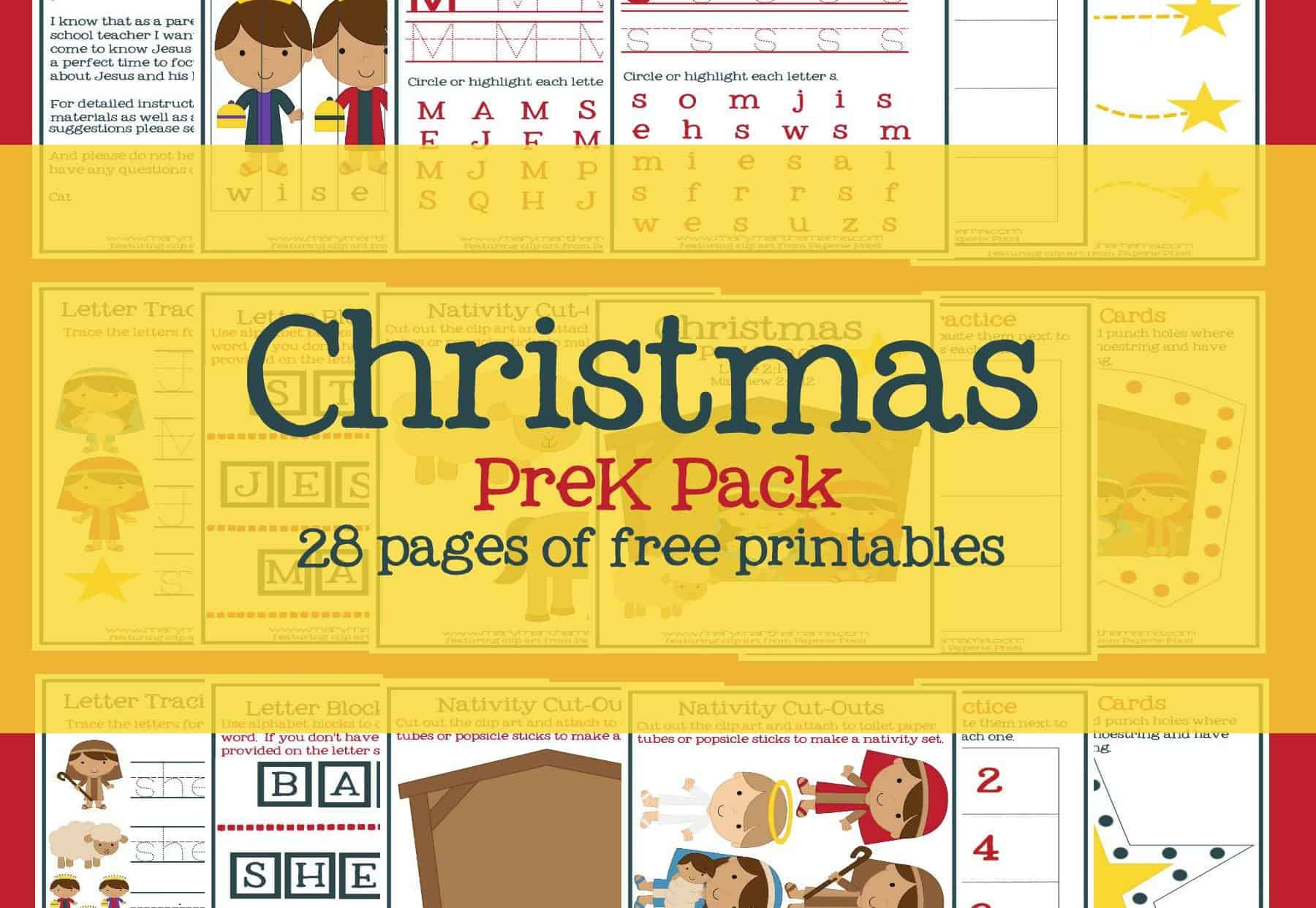 Christmas Worksheets For Preschoolers Jesus Birth