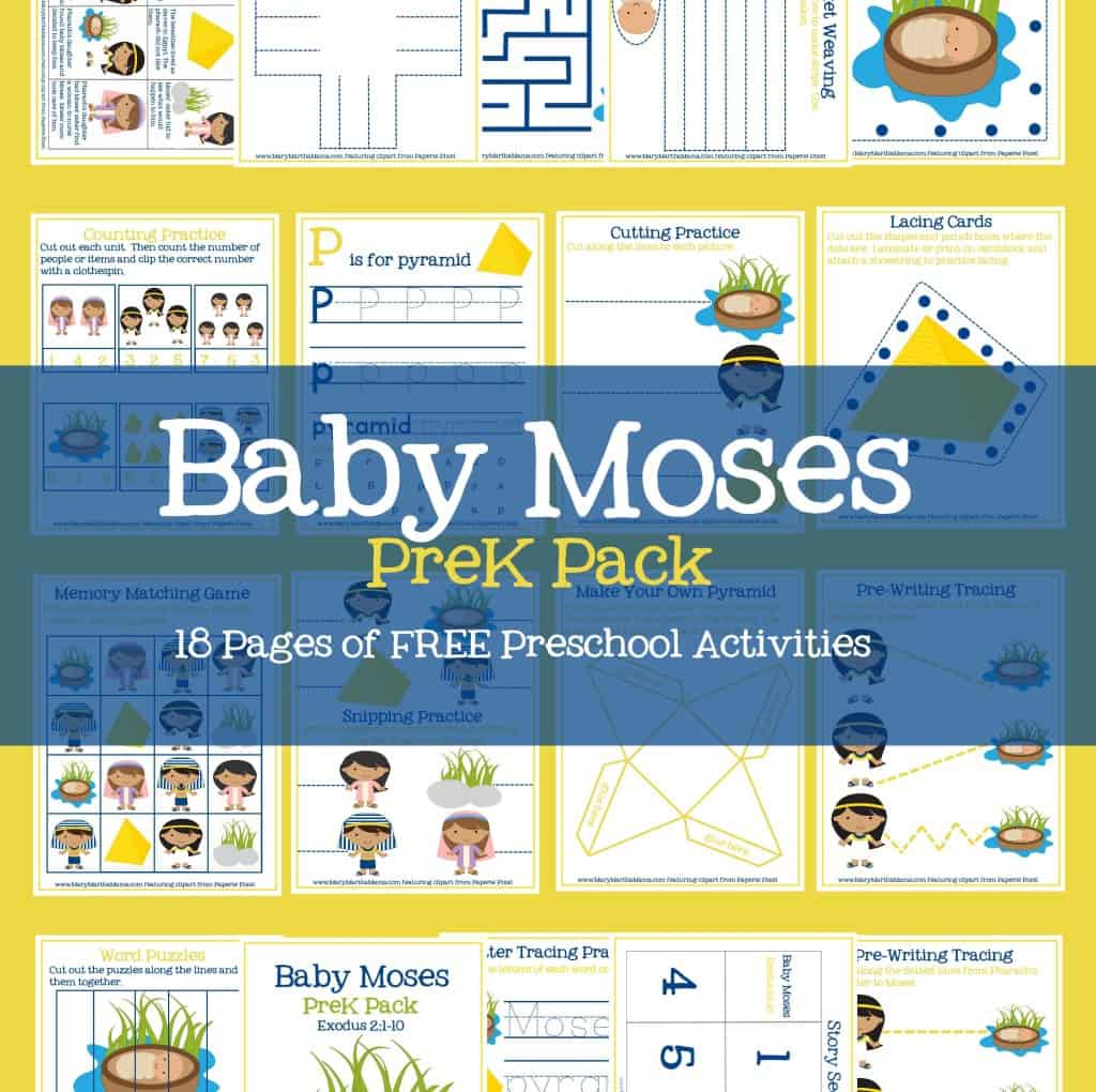 Baby Moses Activities For Prek Amp Early Elementary Mary Martha Mama
