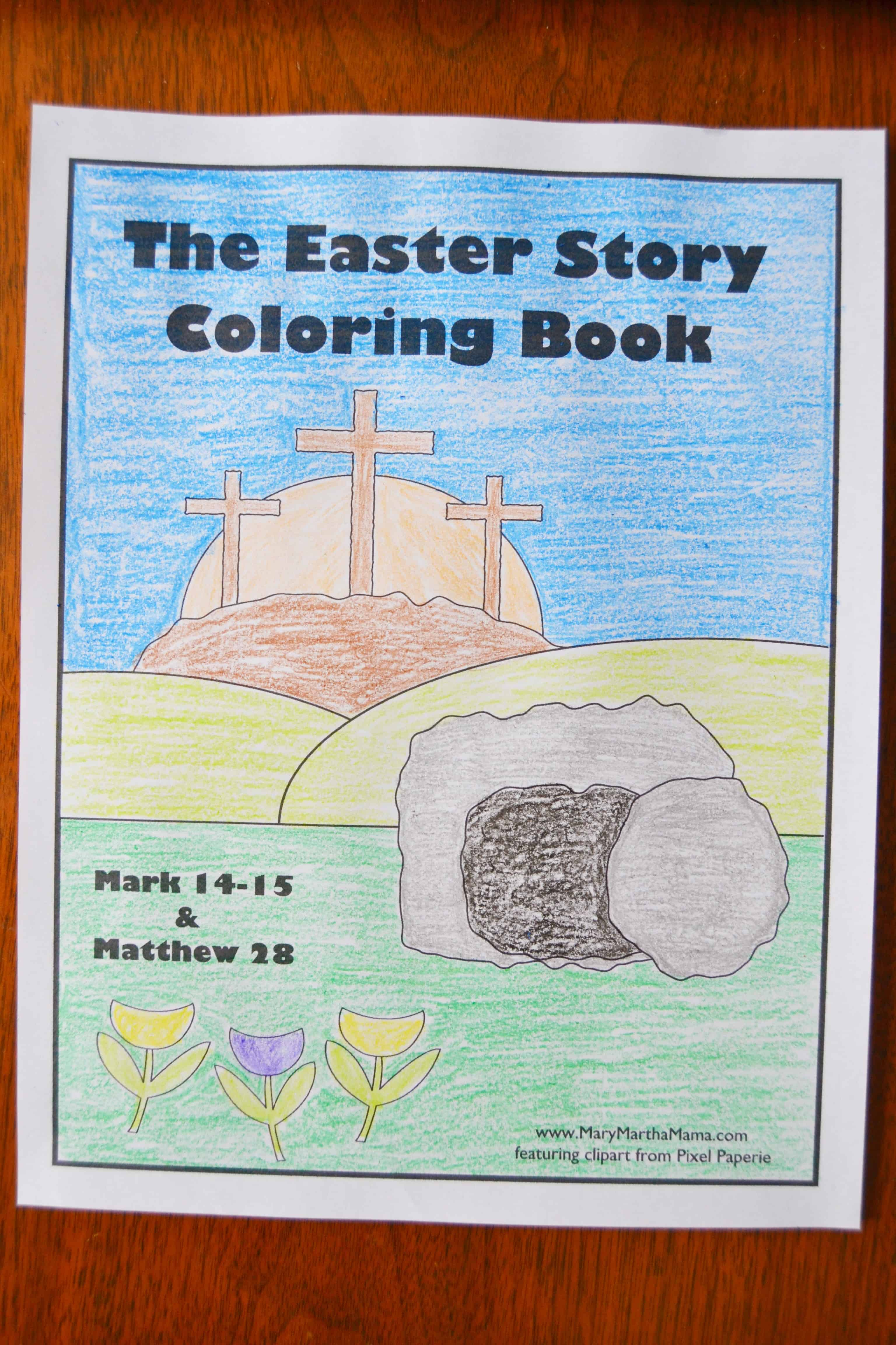 Religious Easter Coloring Pages Mary Martha Mama