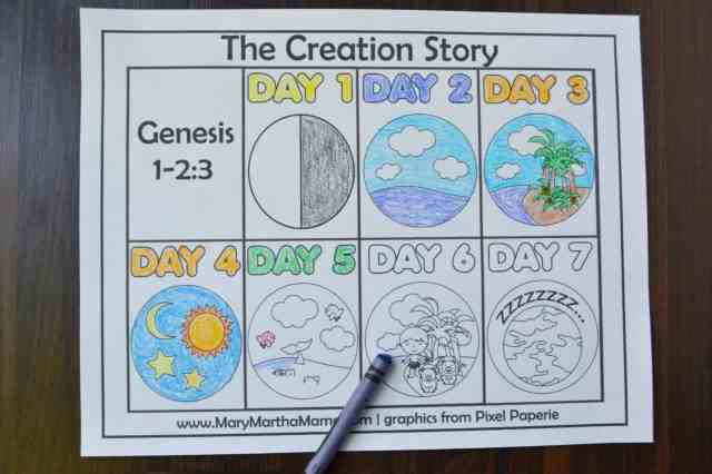 Creation Coloring Pages Help Kids Learn the Story – Mary Martha Mama
