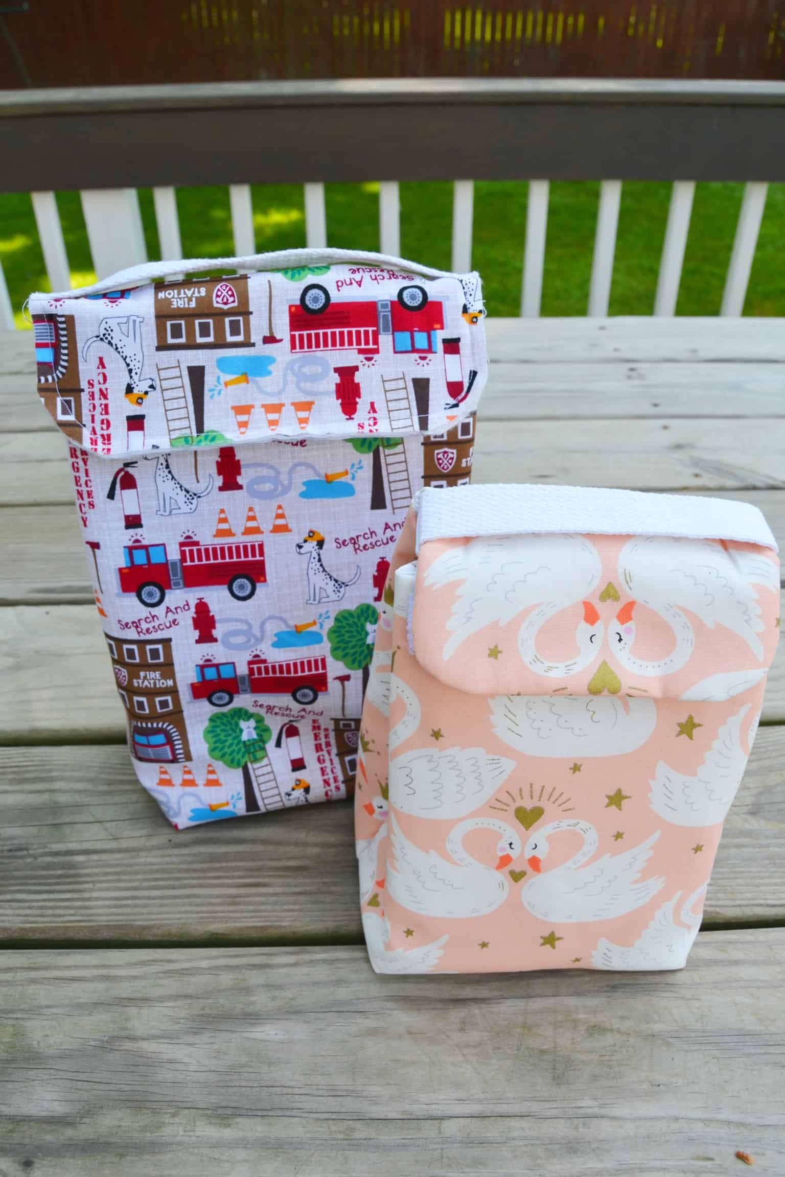Sewing tutorial: Sew a fabric lunch bag