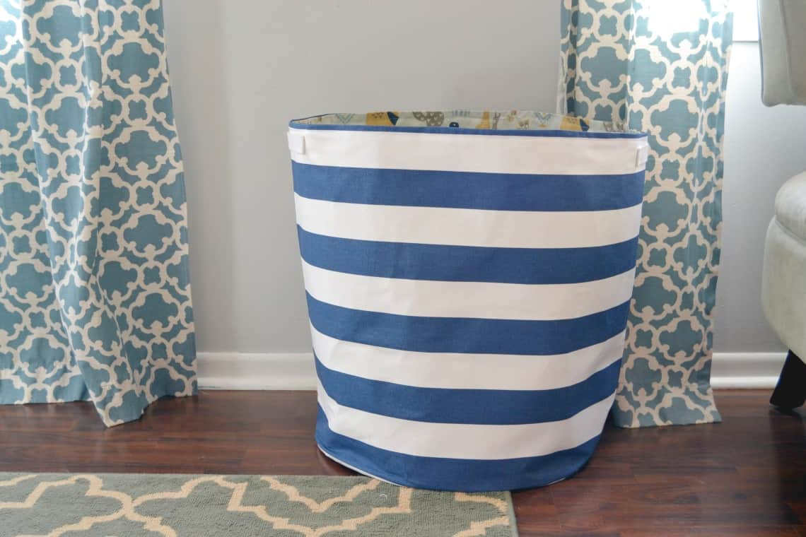 Sewing tutorial: DIY laundry hamper