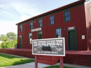 The refurbished Utah Southern Railroad Depot