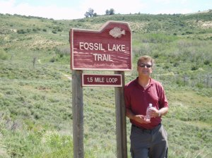 John at the start of the Fossil Lake Trail