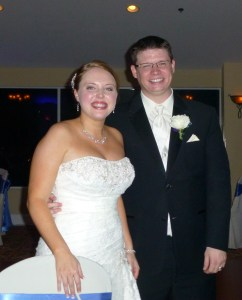 We wish Becca and Mike much happiness and success in their marriage.