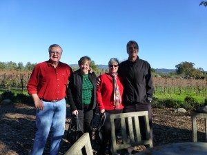 At Stone Edge Farm Winery with George, Karen and John