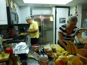Nancy and Jesus in the kitchen