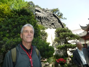 John and a good luck dragon