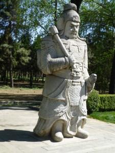 Stone warrior on guard