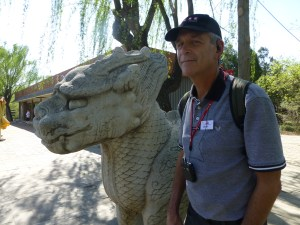 Mythical son of the dragon with realistic copy of John