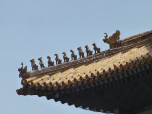 Nine sons of the dragon protecting the building