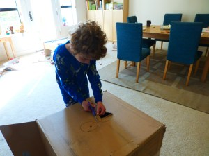Nathan creating something out of the box