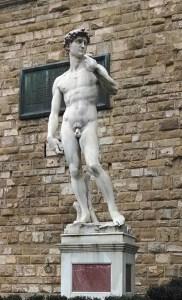 Replica of David in the Piazza Signorelli