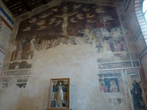 14th century crucifixion and a fragment of the Last Supper in the Santo Spirito museum