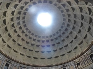 Coffered ceiling and oculus of the Pantheon