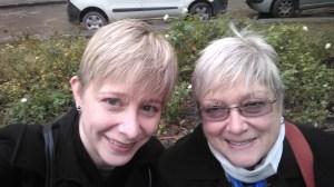 Selfie of Sarah and Mom