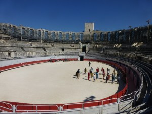 The amphitheater in Arles