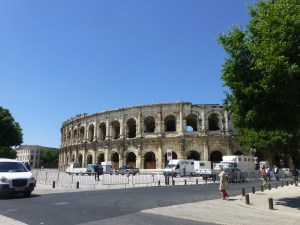 Roman amphitheater in Nimes