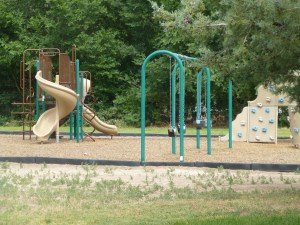There's a playground here that we've never seen any children play on.