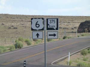 We turn right onto NV 375, The Extraterrestrial Highway