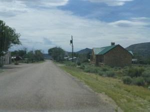 Main street in Modena, Utah