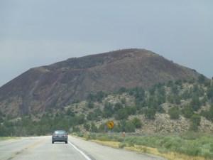 This volcano's caldera is apparent
