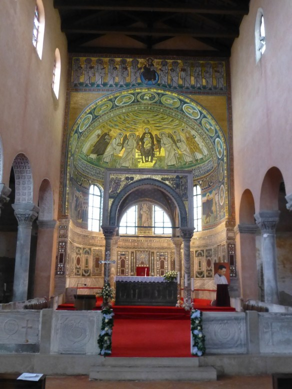 Interior of the Euphrasian Basilica founded by Bishop Euphrasius in the mid 6th century