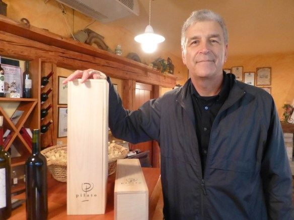 John with wine boxes