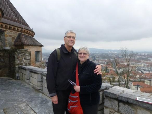 Mary and John in Ljubljana (Picture taken by Guy of Turkmenistan)