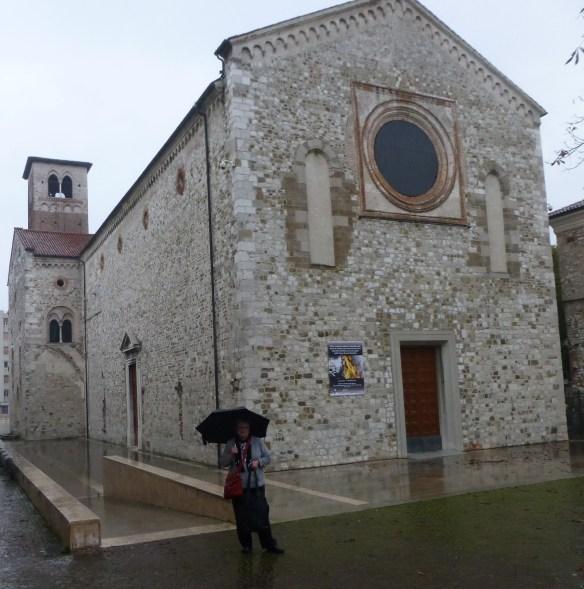 Old churches and rain