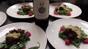 Beef cheeks and Occasio wine