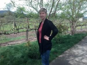 Sarah outside of Kunde Winery