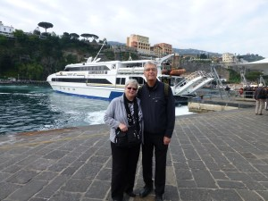 Mary and John at Sorrento port